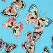 colorful butterfly insect blue fabric henry usa kawaii