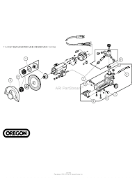 oregon forestry accessories parts diagram for bar mounted mini