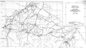 Montana Counties Map by Yellowstone Genealogy Forum Special Collections