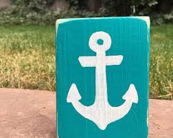 anchor sign etsy