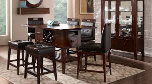 Counter Height Dining Room Furniture Julian Place Chocolate 5 Pc Counter Height Dining Room Dining