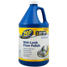 Bona Gloss Floor Finish by Zep 128 Oz Wet Look Floor Polish Zuwlff128 The Home Depot