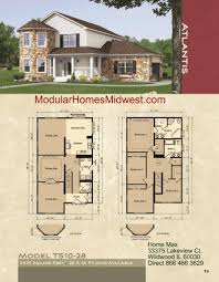 Floor Plans For 2 Story Homes by Modular House Plans For Narrow Lots Arts