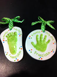 clay impression foot and print ornaments home