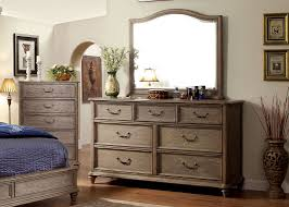 Bedroom Dresser With Mirror Dresser Mirror In Rustic Tone Finish