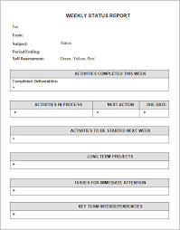 Project Weekly Status Report Template Excel Sle Status Report 6 Documents In Word Pdf Ppt