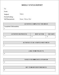 sample status report daily status report template daily work