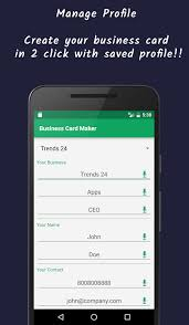 Text Your Business Card Business Card Maker Visiting Card Android Apps On Google Play