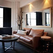 living room design with black leather sofa black leather sofa
