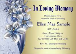 funeral phlets funeral invitation card
