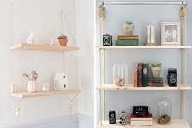 estantes y baldas ideas para decorar con estanter祗as colgantes