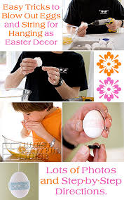 Decorating Easter Eggs Blowing Out by How To Blow Out Egg Yolks And String For Hanging Decorative Eggs