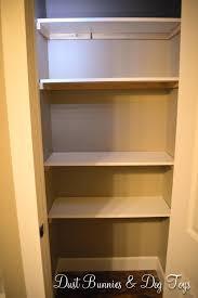 Bathroom Closet Shelves Closet Bathroom Closet Shelves A More Storage Closet