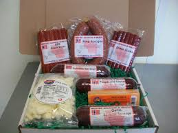 summer sausage gift basket cheese and sausage gift basket w white curds wi