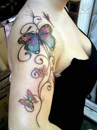 amazing tattoos of butterflies on shoulder meaning design idea for