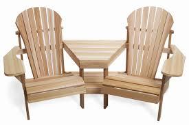 Red Cedar Outdoor Furniture by Atc Tt44u Cedar Tete De Tete Two Chair Side Table Set