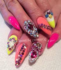 day 169 bold and bedazzled nail art nails magazine art nails