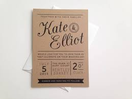 kraft paper wedding invitations kraft wedding invitations reduxsquad