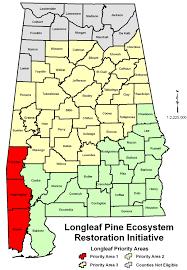 Alabama Counties Map Longleaf Pine Initiative Map Nrcs Alabama