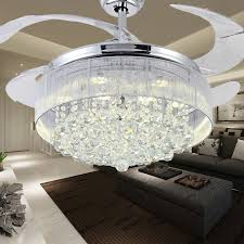 fan with retractable blades 100 crystal ceiling fan decorative silver fan body retractable