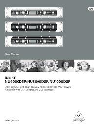 user u0027s manual for power equipment behringer inuke nu6000dsp