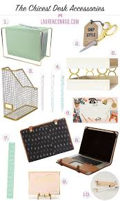 Fashionable Desk Accessories Tuesday Ten The Chicest Desk Decor Desks Banks And Office Spaces