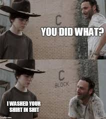 Carl Walking Dead Meme - rick and carl memes imgflip