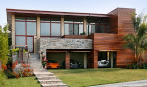 elegant design inspiration for modern style white garage interior fantastic modern home with glass and wood exterior also open garage design idea