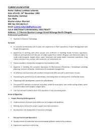 Wastewater Treatment Plant Operator Resume Aubrey U0027s Cv