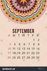 calendar 2017 year september vector design stock vector 470511743