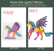 Unicorn Memes - draw this again meme unicorn by ossiekins on deviantart
