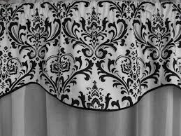 Black Window Valance Window Treatment Valance Black And White Valance Window
