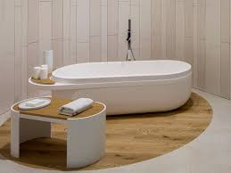 freestanding oval krion bathtub slim by systempool