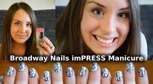 broadway nails impress press on manicure demo and review youtube