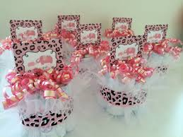 Cheetah Party Decorations Pink And Leopard Baby Shower Centerpieces Baby Shower Decoration
