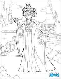 chinese princess coloring pages hellokids com