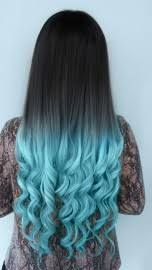 blue hair extensions colorful ombre hair extensions fashion color human hair extensions