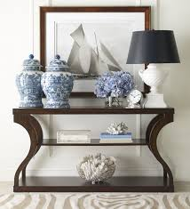 black entry hall table black and white and blue stylish interiors pinterest breeze