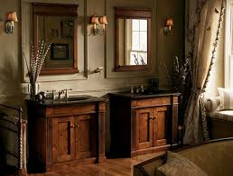 small rustic bathroom ideas together with naturally brown finish