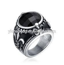 men vintage rings images Vintage design thumb ring for men vintage black oval silver fleur jpg