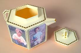 card craft card making templates 3d teapot with photo frames