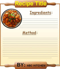 recipe card template best word templates