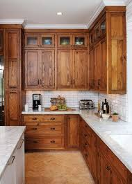 wood kitchen cabinets with white countertops 38 stained cabinets with white counters and backsplash ideas