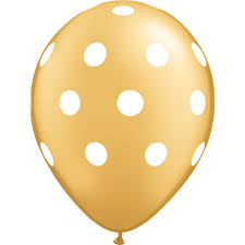 polka dot balloons gold polka dot balloons pretty party shop