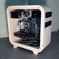 wooden computer case adds a touch of modern hackaday