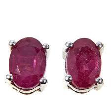 ruby stud earrings colleen so in 1ctw ruby sterling silver stud