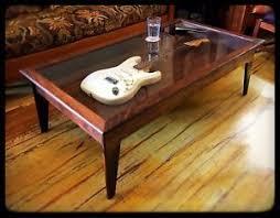 Coffee Table Box Handmade Walnut Modern Style Shadow Box Guitar Display Coffee