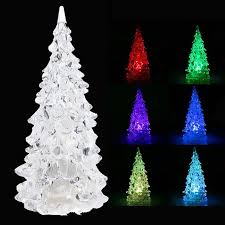 color changing led icy tree light battery operated