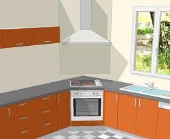 hotte de cuisine en angle croquis de la cuisson en angle dans une cuisine cuisine