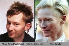 Thom Yorke Meme - thom yorke radiohead totally looks like tilda swinton totally
